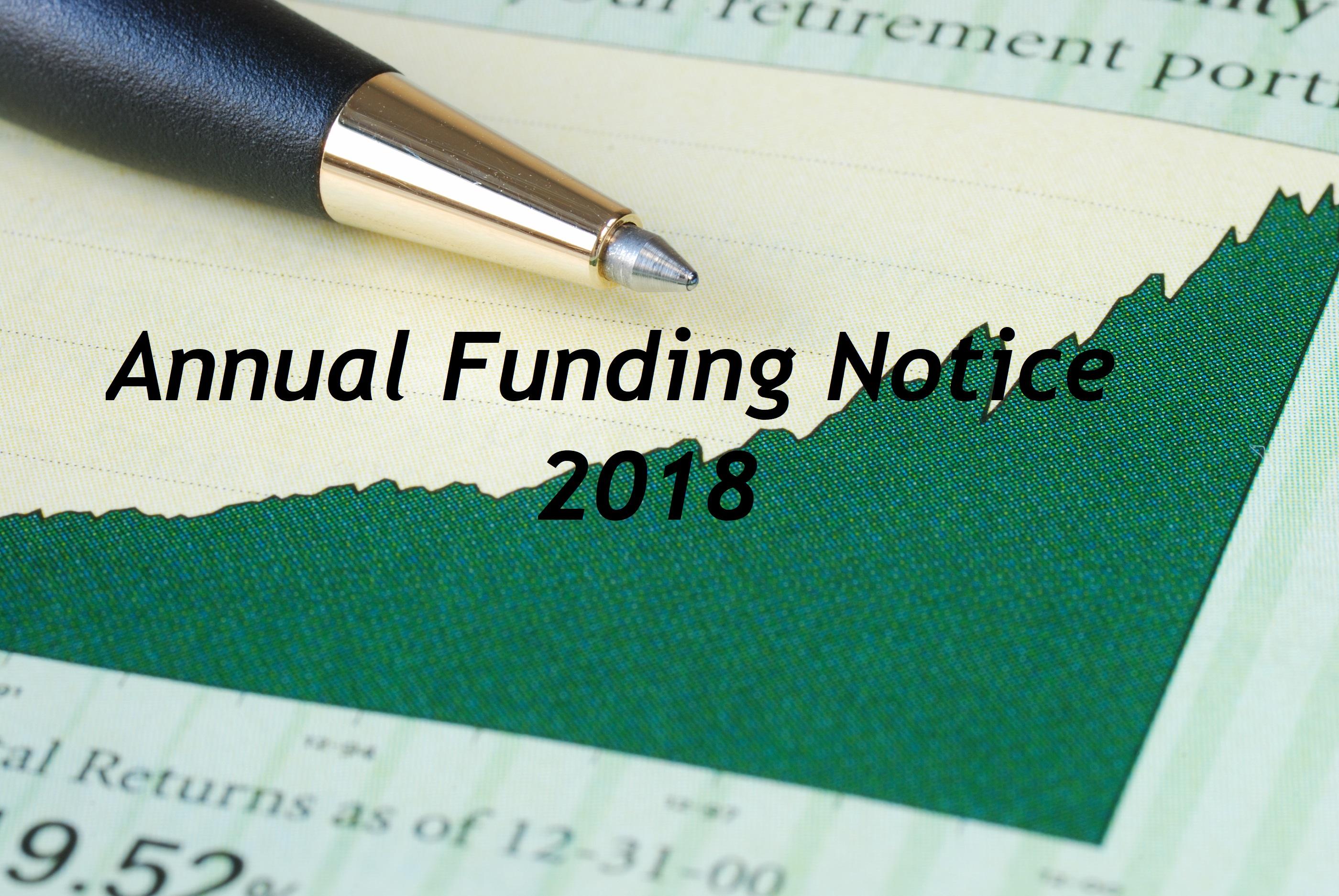 2017 Annual Funding Notice – April 23, 2018